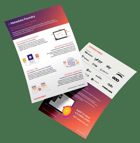 ContentWise Metadata Foundry Flyer